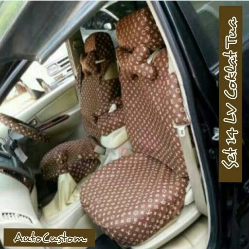 harga Sarung jok mobil 14 in 1 louis vuitton dark brown / lv coklat tua Tokopedia.com