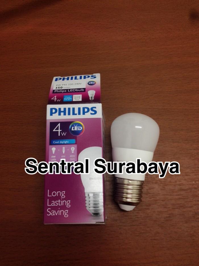 Lampu LED bulb Philips 4w 4 watt 4 w Putih Garansi 2th ledbulb