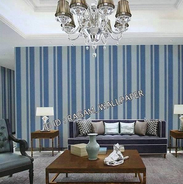 Wallpaper Dinding Ruang Tamu Motif Garis Minimalis Modern Times 7a206