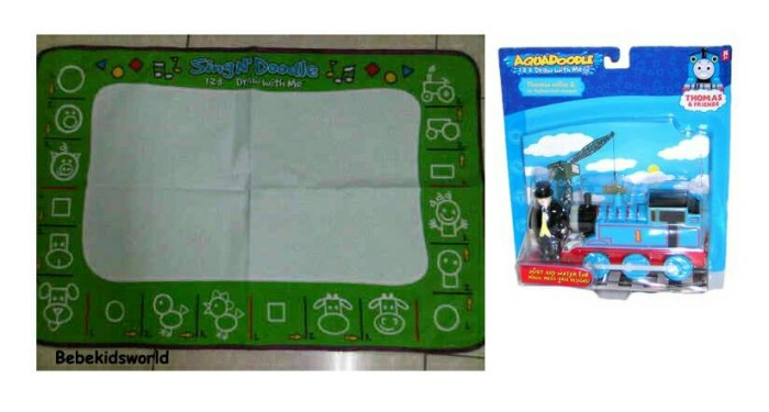 harga Aquadoodle set with thomas stamps Tokopedia.com