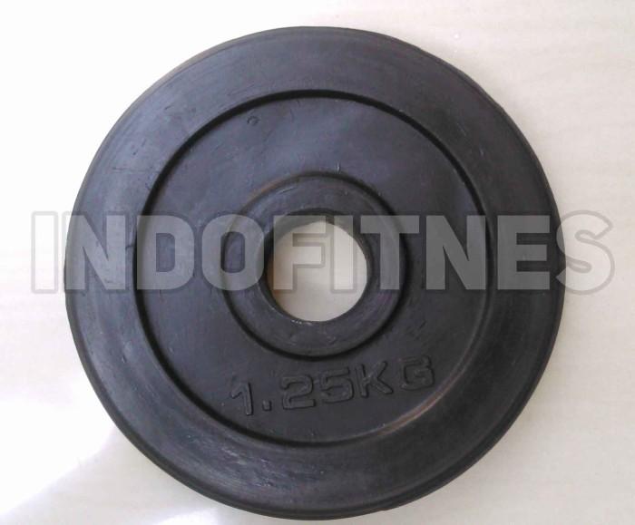 harga Plate beban rubber dumbel karet 1,25kg lubang 3cm high quality Tokopedia.com