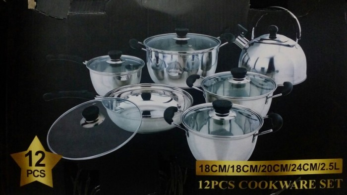 harga Weston cookware/ panci set 12pc (w2x-366s12) Tokopedia.com