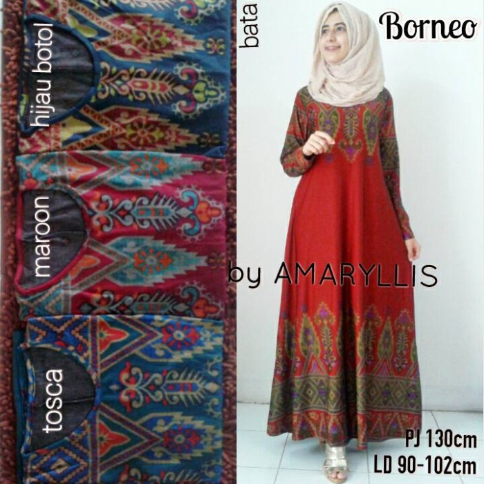 Jual Borneo Maxy Calvin Jeans Gamis Etnic Dapis Shop Tokopedia