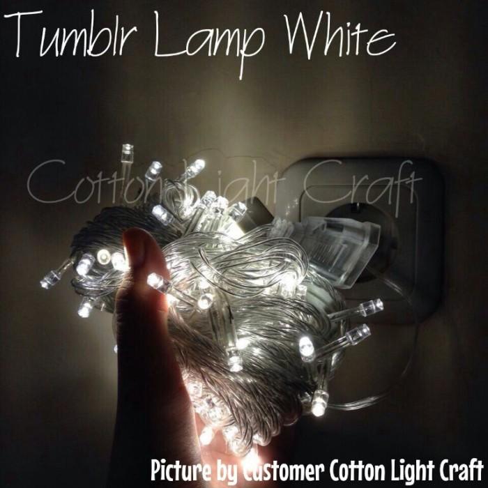 Ricelamp / tumblr lamp / lampu natal / lampu beras / lampu hias putih