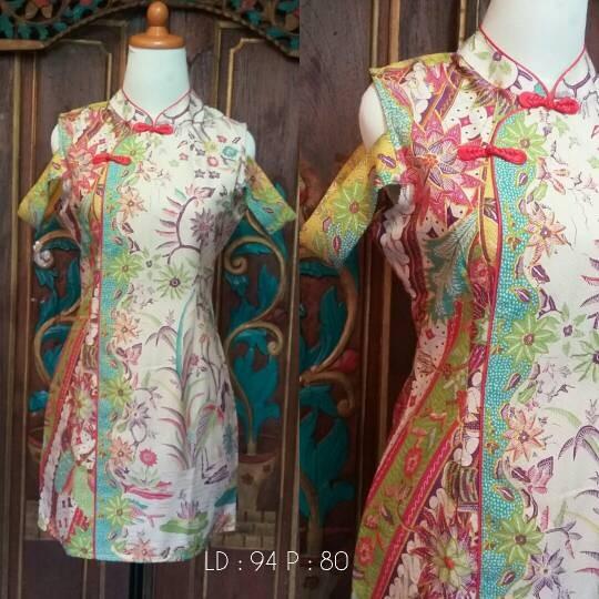 Jual Dress Batik Cheongsam - Batik Nana Ethnic  e102c0becf