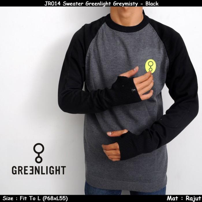 JR014 Sweater Greenlight Greymisty - Black