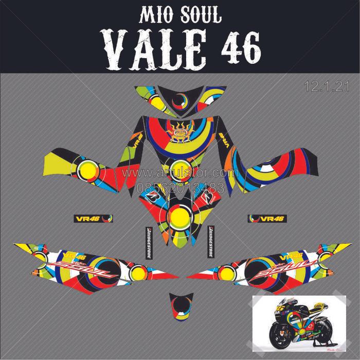 Foto Produk Sticker striping motor stiker Yamaha Mio Soul Valentino Rossi Moon Sun dari anulator-custom