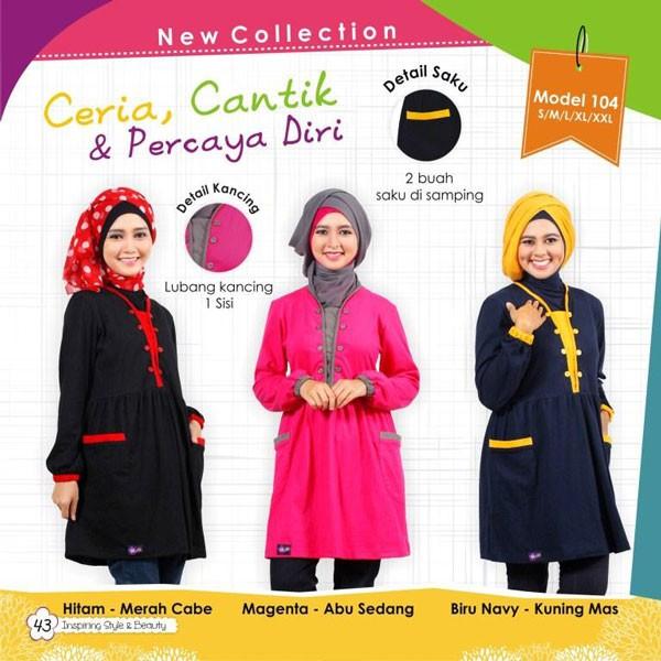 ... harga Baju muslimah atasan bahan kaos murah / mutif 104 Tokopedia.com