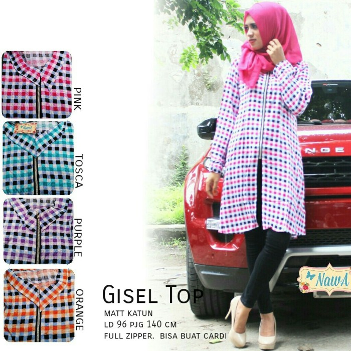 Supplier Hijab Ori : gisel top ori nawa