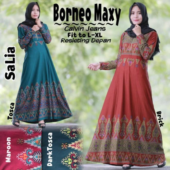 Jual Borneo Maxy Ori Gamis Calvin Jeans Cantik Dapis Shop