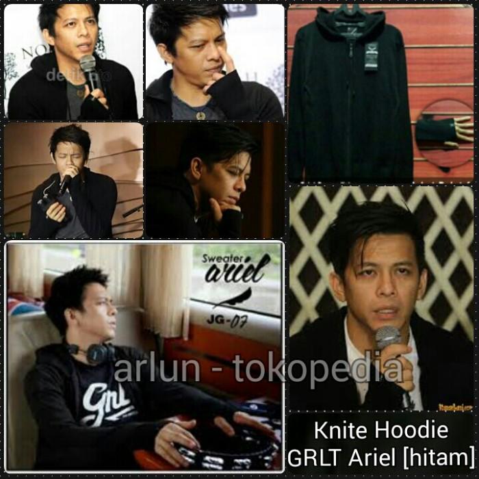 Knit hoodie / Jaket rajut Greenlight Ariel - Hitam