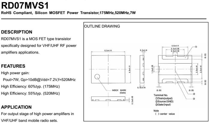 Jual TRANSISTOR RF MOSFET VHF - UHF BAND RD07MVS1 MITSUBISHI - Kab   Banjarnegara - elradiostore | Tokopedia