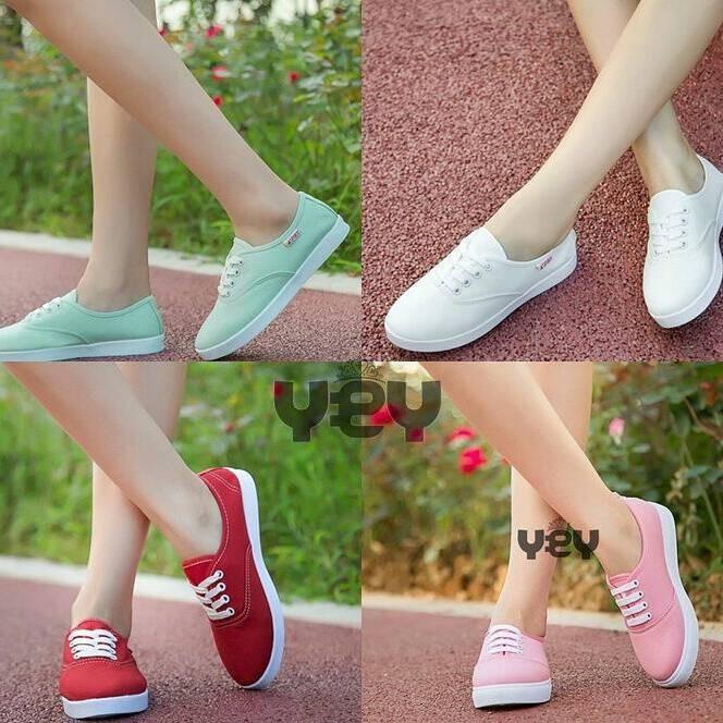 Jual sepatu wanita cewek murah kets supplier sepatu bandung - Hestishop  9bcfa03058