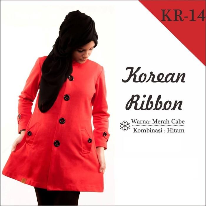 harga Jaket wanita korea muslimah hoodie blazer ribbon terbaru terlaris kr14 Tokopedia.com