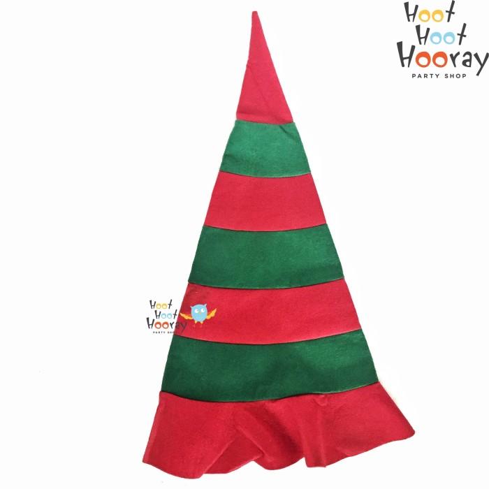 Topi natal / topi santa elves / topi pesta / topi kerucut natal
