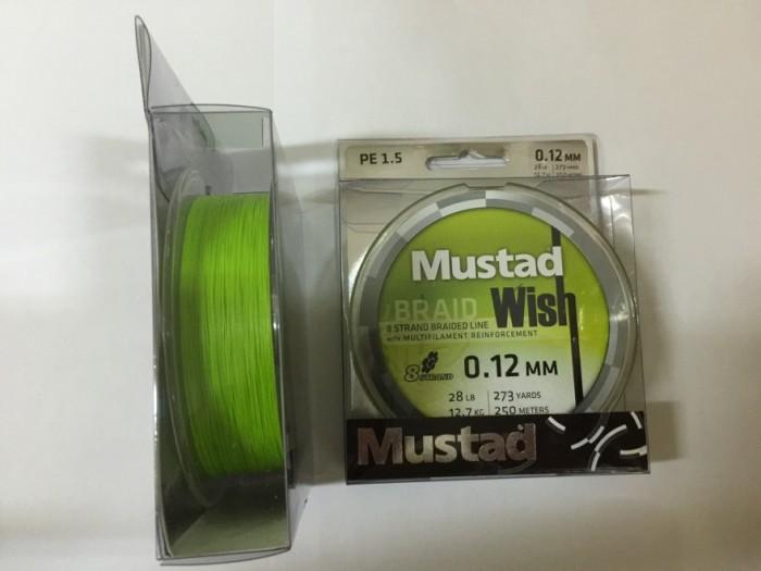 harga Mustad wish 8 strand braided fishing line 250m - pe 1.5/28lb/12.7kg Tokopedia.com