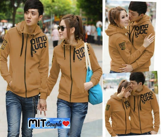 Jaket Couple / Baju Pasangan / jacket couple Qing / oren biru hijau