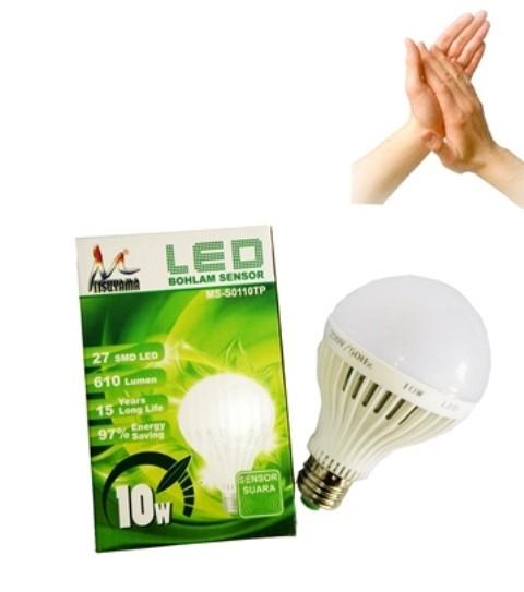 LAMPU LED SENSOR TEPUK | BOHLAM LED SENSOR SUARA 10 WATT (OK)