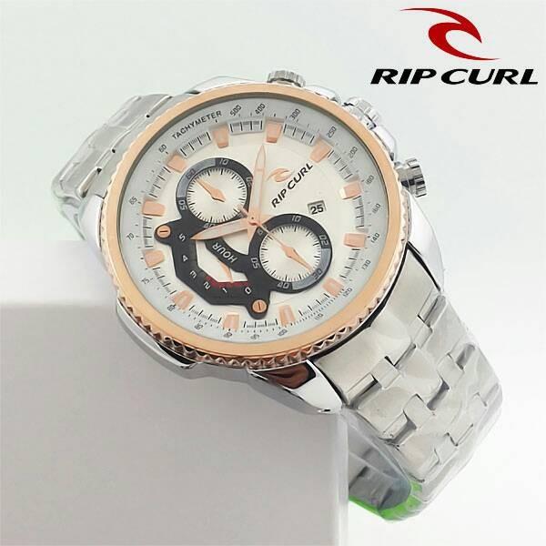harga Jam tangan pria / cowok ripcurl chronomaster rantai silver list gold Tokopedia.com
