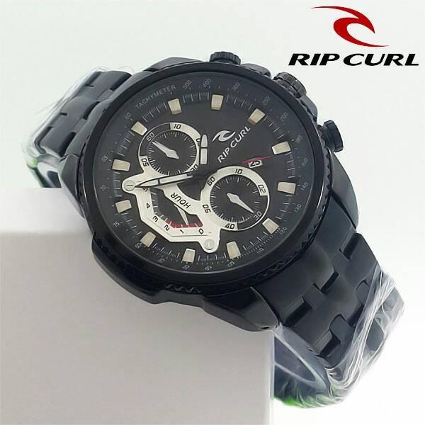 harga Jam tangan pria / cowok ripcurl chronomaster rantai full black Tokopedia.com