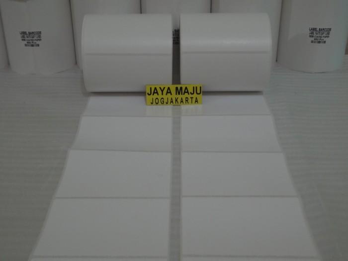 harga Label barcode semicoated 104 x 75 1 line gap core 1  pakai porporasi Tokopedia.com