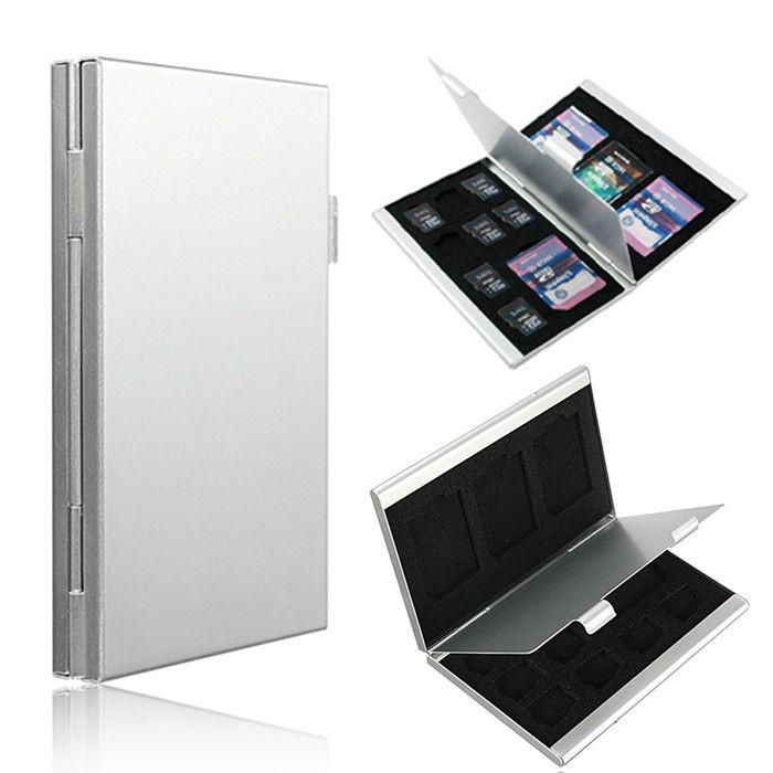 harga Metal 12 in 1 aluminum 8 micro sd + 4 sd card storage box Tokopedia.com