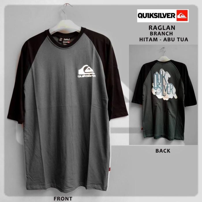 Kaos (T-Shirt) Distro Quiksilver / BRANCH HITAM - ABU TUA