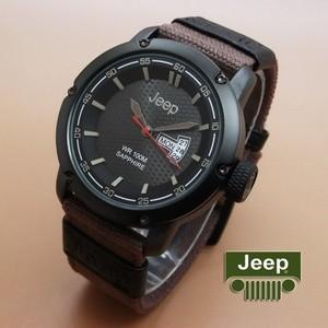 Jual Jam Tangan Pria   Cowok Jeep Kanvas Tanggal Hari Aktif Brown ... c988ec58f9
