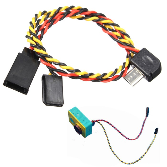 Foto Produk FPV AV kabel Video Output Xiaomi Yi - kabel Video Output TX dari NARD Hobby