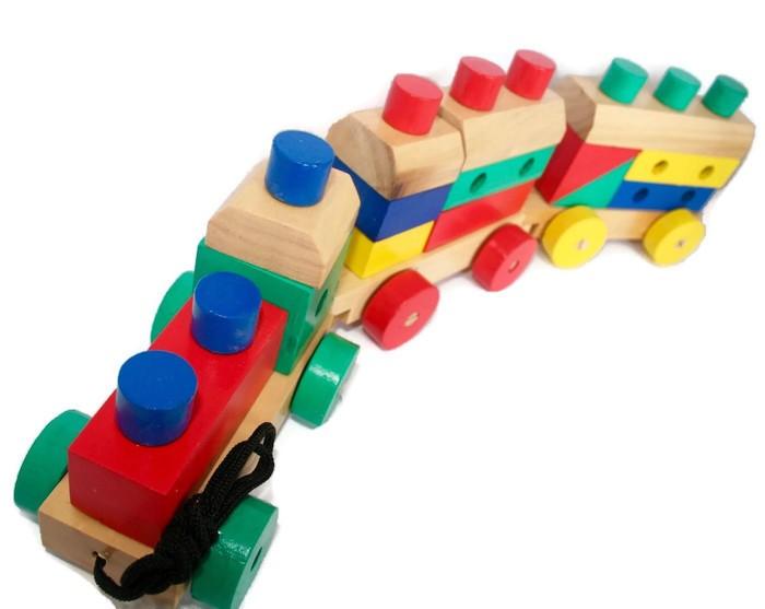 Foto Produk Mainan Edukasi Anak-Kereta Kayu 5 in 1 dari PanoramaToys