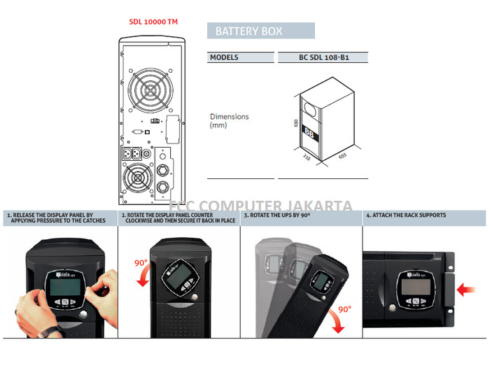 Jual Riello UPS SENTINEL DUAL SDL 10000 High Power 10 kVA (10 000 VA) SP -  Jakarta Utara - FCC Computer | Tokopedia