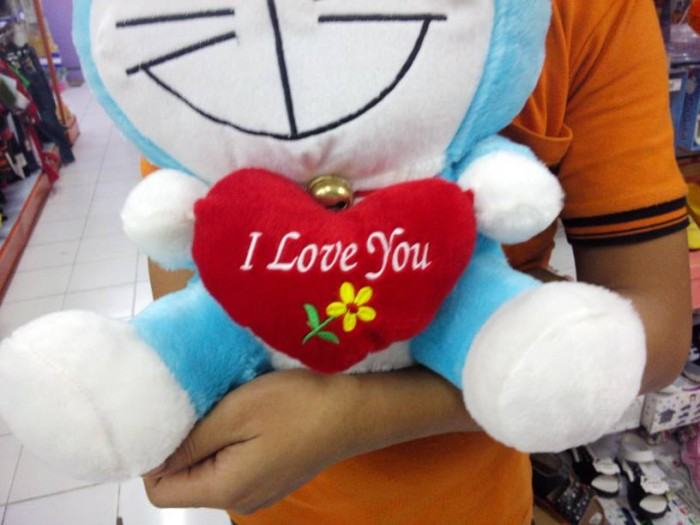 Jual Boneka Doraemon I Love You Uk.45cm - enha herb   c38fb6d68e