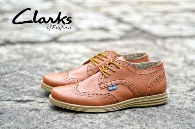 Jual Gudang Sepatu Murah Clarks Raspin Tan Hand Made Original  91 ... f66de87117
