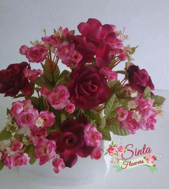 Jual Bunga Mawar Bunga Impor Mawar Rose Dekorasi Shabby Chic Vintage Pot Kota Tangerang Selatan Sintaflowers Tokopedia