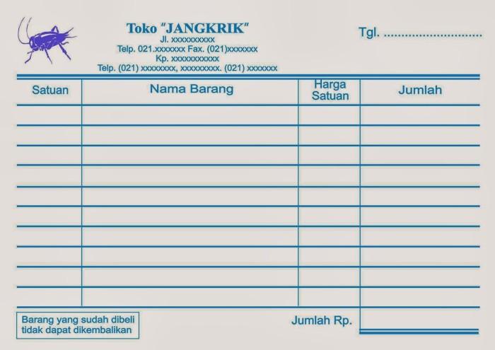 Jual Cetak Nota 1 Ply Grosir Murah Kota Medan Lastminute Printing Tokopedia