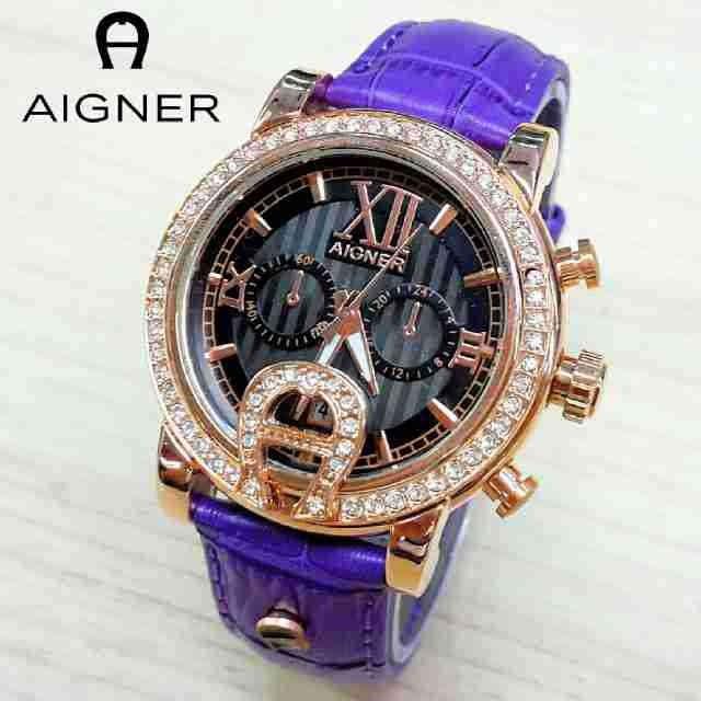 harga Jam tangan wanita aigner romawi kulit ungu body rosegold Tokopedia.com