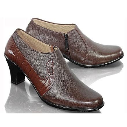 harga Sepatu formal boot kulit asli wanita cewek kantor kerja pantofel fto91 Tokopedia.com