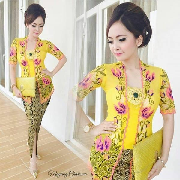 Toko Pedia Baju Batik: Jual Kebaya Bali Kuning Modern Rok Batik