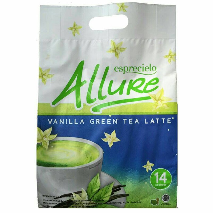 harga Esprecielo allure vanilla green tea latte (14 sachet) Tokopedia.com
