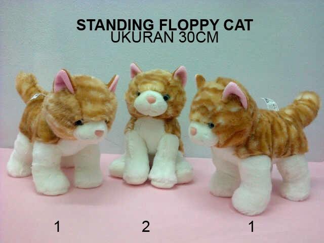 harga Boneka standing cat kucing 30cm Tokopedia.com