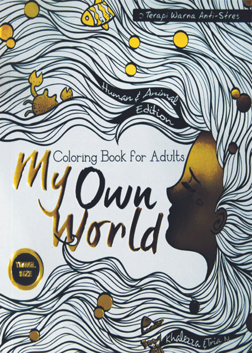 harga Coloring book for adults: my own world 1 (travel size Tokopedia.com