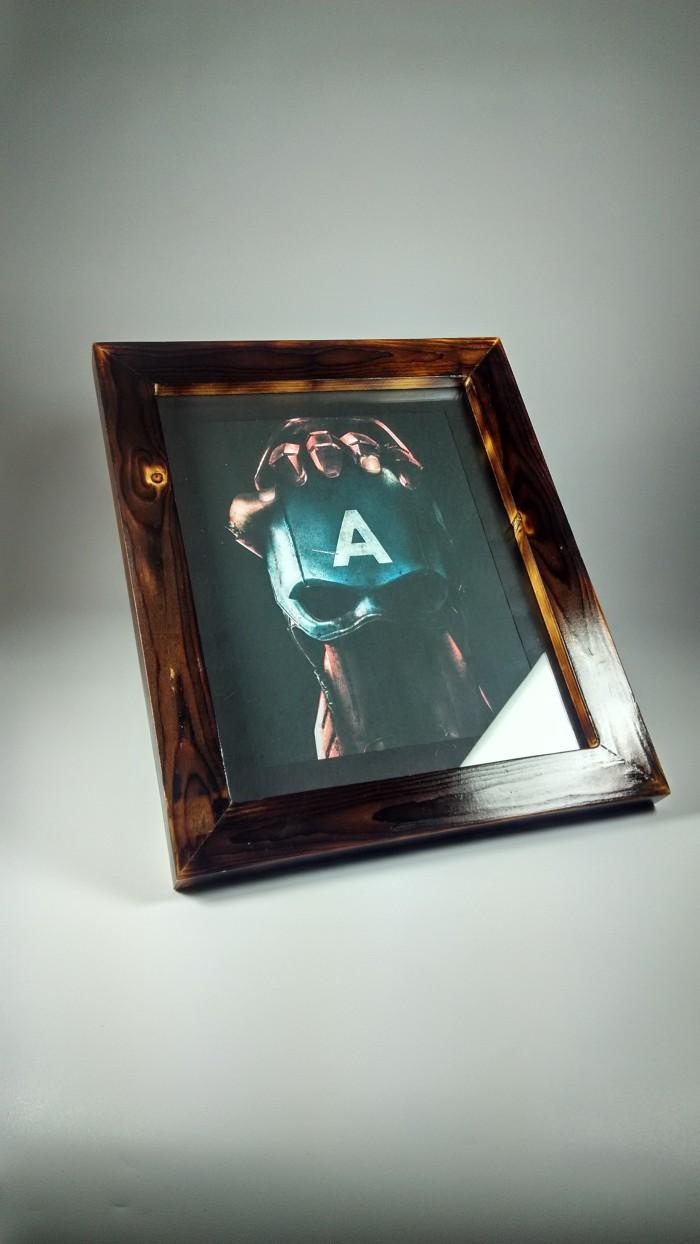 Jual F10R Frame Bingkai Pigura 3D Tebal Kayu Jati Belanda Bakar Minimalis Kota Malang ArtCreativ