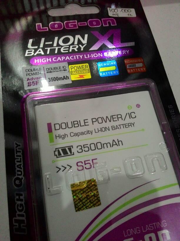 BATERAI/BATTERY DOUBLE POWER LOGON ADVAN S5F