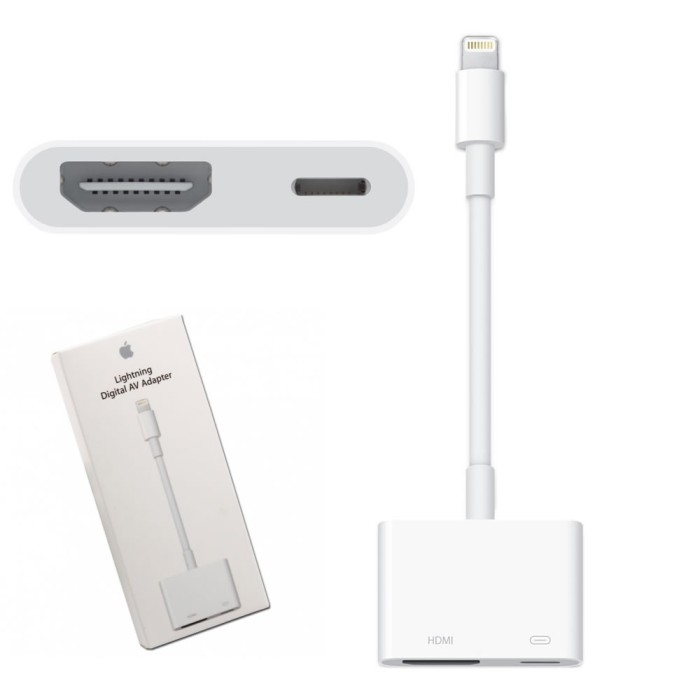Foto Produk CONVERTER LIGHTNING TO HDMI DIGITAL AV TV LCD ADAPTER KABEL IPAD MINI dari luxer