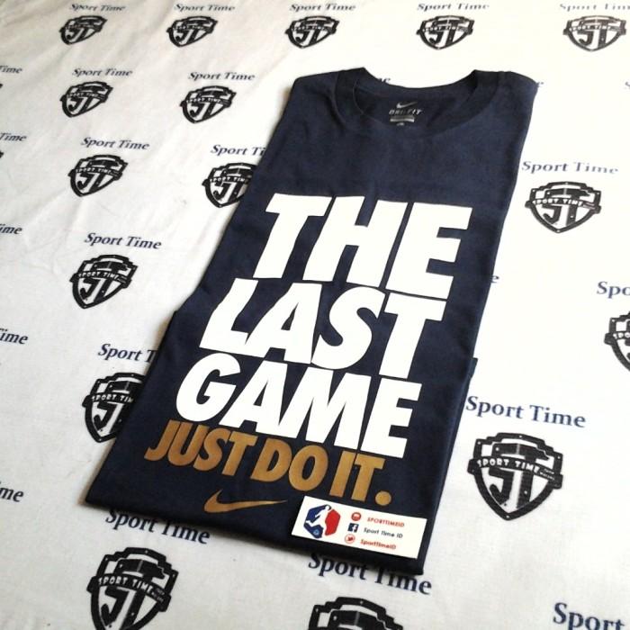 harga Kaos nike / t shirt nike the last game- navy / white / gold Tokopedia.com