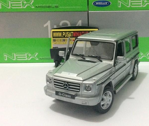 harga Mercedes benz g-class (silver) - skala 1:24 - welly (diecast-miniatur) Tokopedia.com