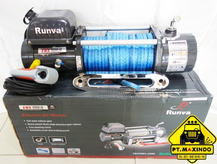 harga Runva high speed winch ewx-9500-q gen 3 with synthetic rope (43ton) Tokopedia.com