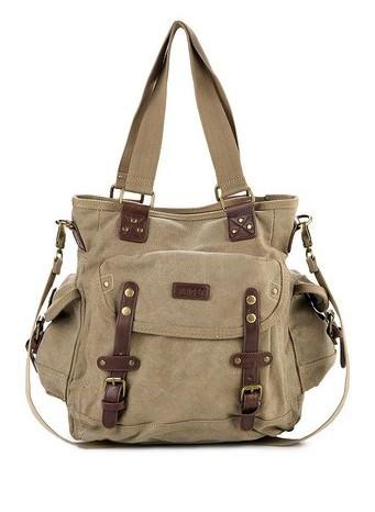 harga Tas triset canvass multi purpose shoulder bags (original) _ beige Tokopedia.com