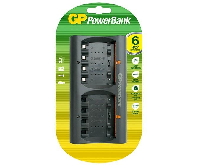 harga Powerbank gp charger baterai aa aaa 8 slots + adaptor Tokopedia.com