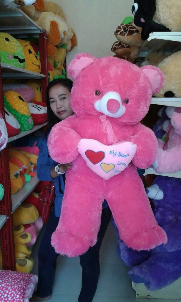 Jual boneka teddy bear jumbo besar big giant pegang love - boneka ... f3c79f86b7